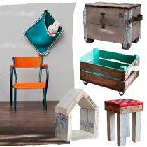 Lovely #Kids #Shops ★ I am Recycled | Gebruikte & restmaterialen zijn de basis voor deze creatieve en stoere meubelen & accessoires. Krukjes, opbergzakken, kratten op wielen en meer!