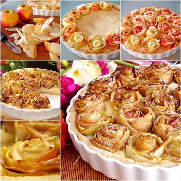 delicious and attractive apple pie of roses  --> http://www.icreativeideas.com/how-to-diy-apple-pie-of-roses/
