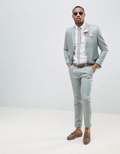 ef49695188617 boohooMAN Wedding Slim Fit Suit Jacket In Gray in 2019   Wedding ...