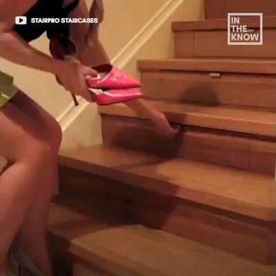 DIY Staircase Storage   – Living