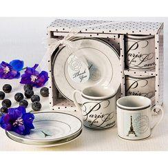 Artisano Designs Case Pack of Paris Espresso Cup Favor Set