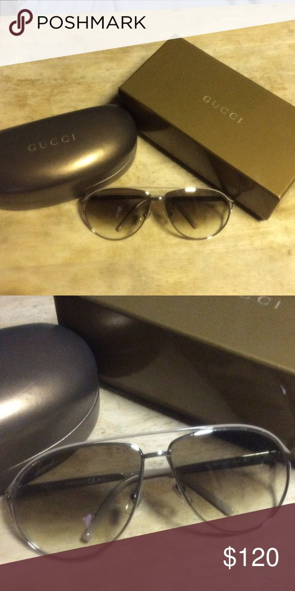 Gucci women's aviator sunglasses EUC. GUCCI Mod. GG 4216/S COL. KT6XY white gold Made in Italy Size 62-12 Gucci Accessories Sunglasses