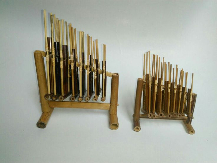 Miniatur Angklung. Traditional musical instruments from Indonesia.