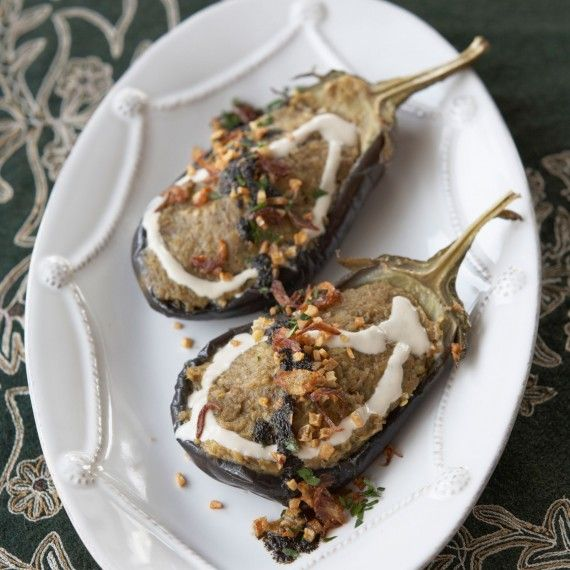Ariana Bundy's Grilled Aubergine Dip with Whey, Onions and Mint Recipe - Ariana Bundy's Persian Recipes - Woman And Home