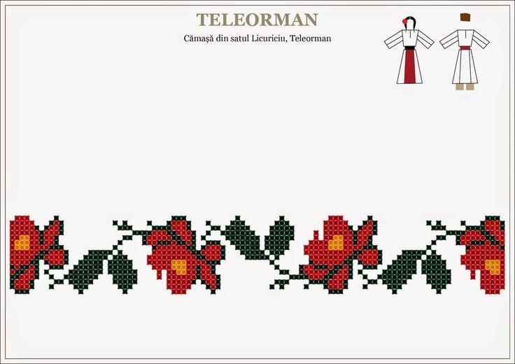 Semne Cusute: Romanian traditional motifs - MUNTENIA - Teleorman
