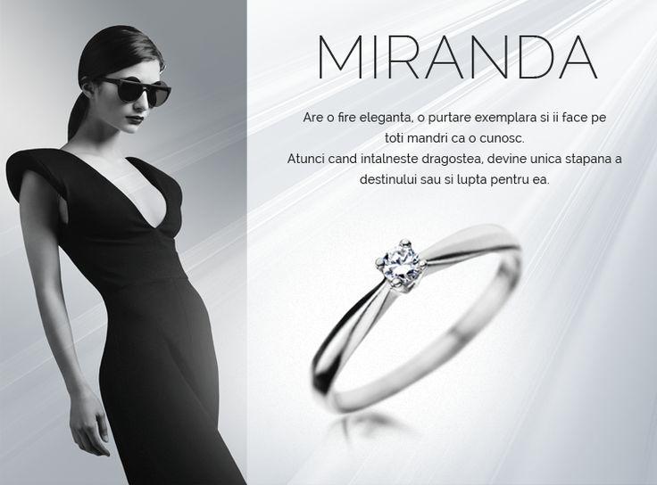 Colectia Miranda  #MadeInRomania #IneleDeLogodna www.coriolan.ro