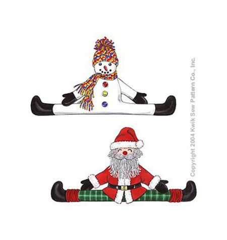 K3279 Snowman And Santa Draft Stopper Out Of Print