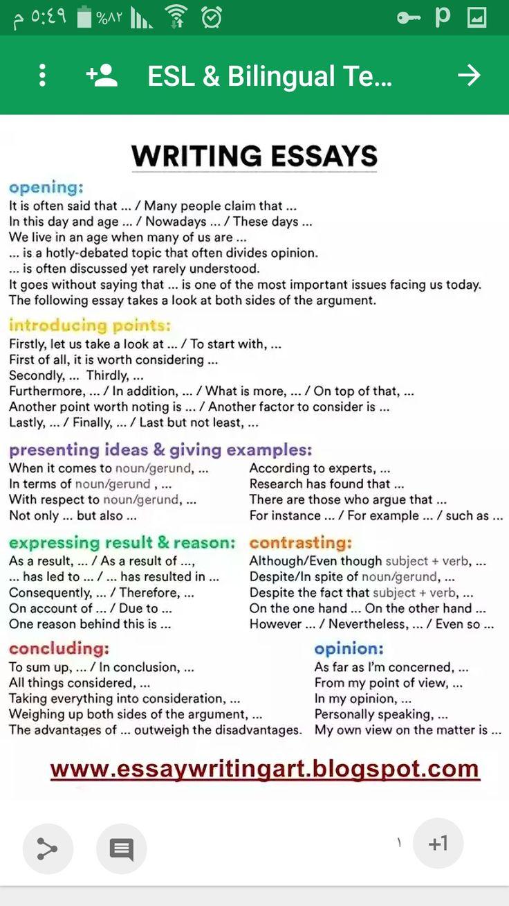 English grammar essays writing