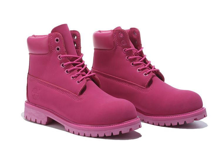Fashion Winter Timberland girl Boots Rose Red For Kids