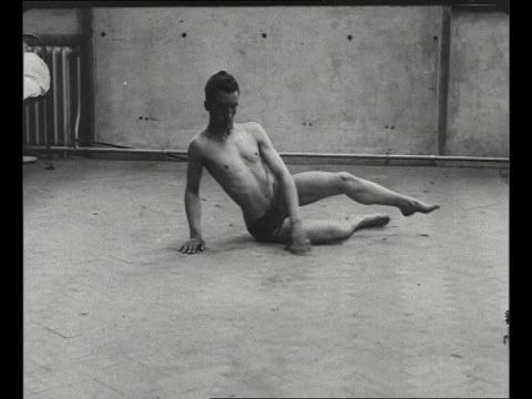 Shell Shock Victim (WW1). Disturbing footage of the effects of shell shock. Filmed during World War 1, this remarkable film shows a traumatised soldier staggering and hardly able to walk, however after treatment, the man is transformed and confidently walks towards the camera.