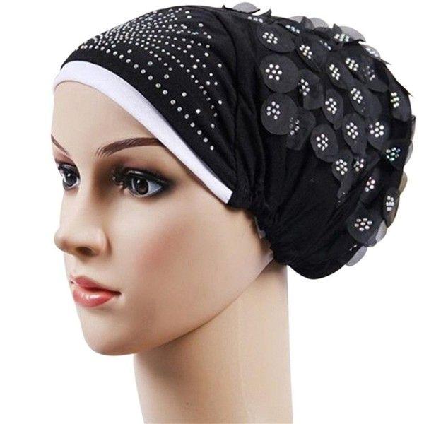Women Fashion Party Headwear Muslim Islamic Flower Head Scarf Turban Wrap Cap
