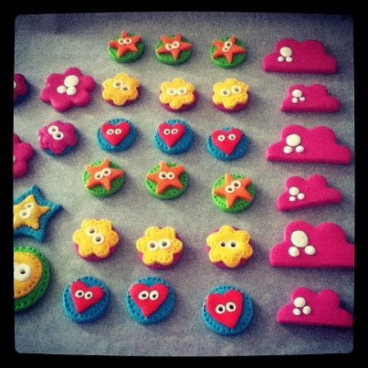 Some clay buttons for Eye Candy Sale  http://instagr.am/p/Mu1dFKjbLE/