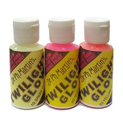 Dr. Ph. Martin's Twilight Glow is a glow in the dark paint and blacklight paint for fabric that really works!