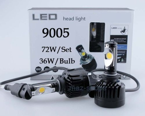 72W 7200LM Cree LED Headlight Kit Light Bulbs 4300K White High Power 9005 H10
