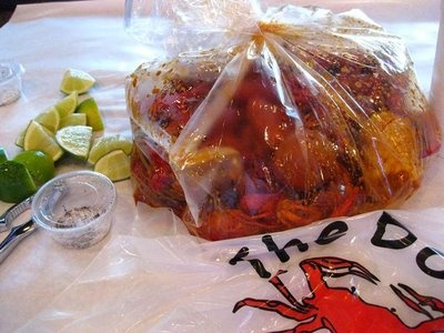 Amazing crab, shrimp and crawfish (with the whole shebang sauce) by the pound @ The Boiling Crab!