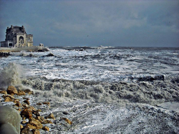 Constanta and the frozen Black Sea