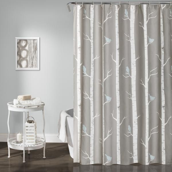 If you love birds or nature scenes, our Bird on the Tree shower curtain is for you. The design creates a calming effect with birds peacefully resting atop tree branches in light, neutral colors. Print
