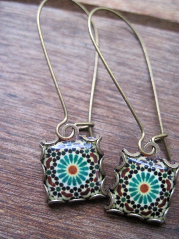 Moroccan earrings islamic jewelry dangle earrings by CorinaCrooks