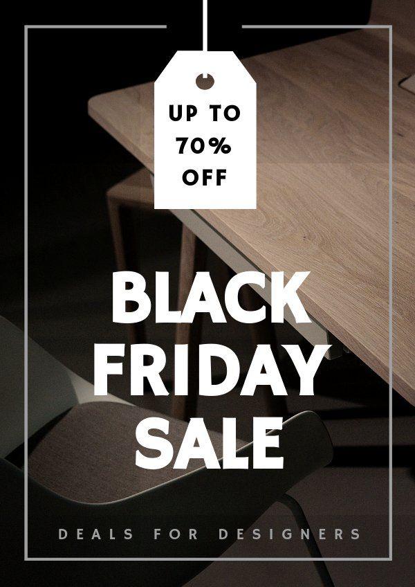 Modern Black Friday Poster Template In 2020 Black Friday Poster Poster Template Simple Poster Design