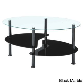 InnovEx Crescent Black Coffee Table Set | Overstock.com Shopping - Great Deals on Coffee, Sofa & End Tables