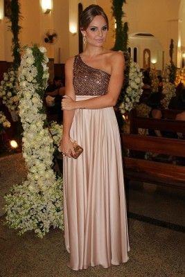 vestido para matrimonio de noche brillante