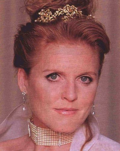 Sarah, Duchess of York wearing an unknown tiara.