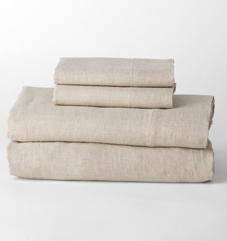 Belgian Flax Linen Sheet Set - Natural Sheet Set - Queen E8411