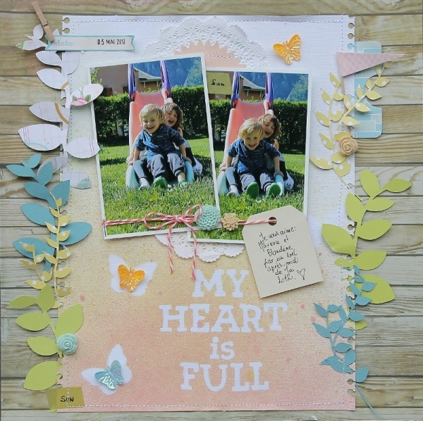 - sophie crespy for PCC- Ideas & Inspiration for Misting with Masks!Layout Inspiration, Crafts Ideas, Scrapbook Layouts, Scrapbook Inspiration, Crafts Scrapbook, My Heart, Scrapbooking Crafts, Ideas Inspiration, Scrapbooking Layouts