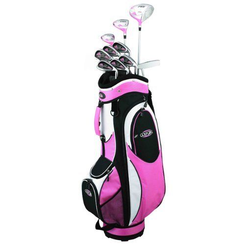 Golf Girl FWS2 LADY LEFTY Pink Hybrid Club Set & Cart Bag by Golf Girl. $214.02. Exclusive to Golf Outlets of America Inc, the latest set from Golf Girl. Features: 460cc oversized driver with graphite shaft and the biggest sweetspot legally allowed. Oversized 3 wood with graphite shaft. 3/4 hybrid with graphite shaft great for long approach shots or getting out of trouble. Zippered headcovers for driver, wood and hybrid. 5-6-7-8-9-PW deep cavity back irons with graphite shafts a...