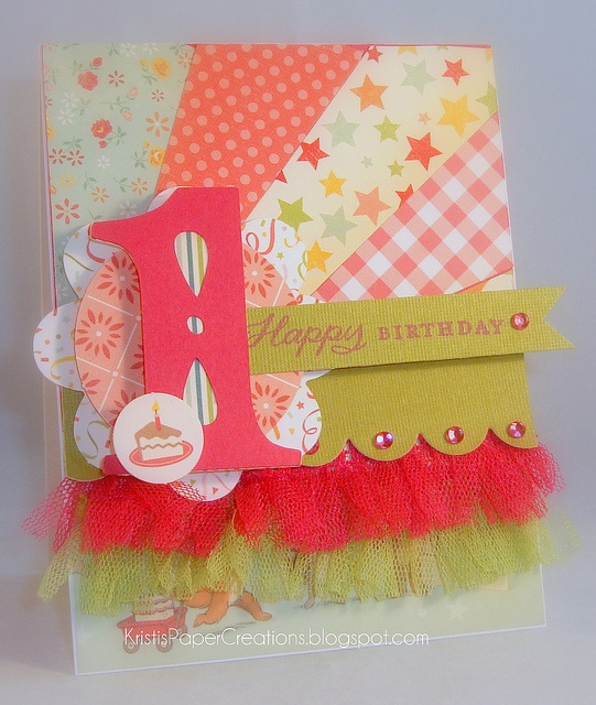Happy First Birthday Card.,... how adorable is that?!