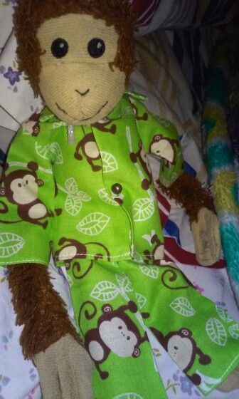 The monkey PJs win..