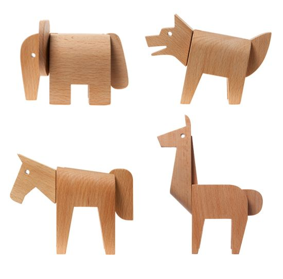 areaware dovetail modern wood puzzle animals: Wooden Animal, Modern Kids, Animalito Madera, Wooden Toys, Kids Modern, Kids Toys, Modern Toys, Dovetail Animal, Kids Design