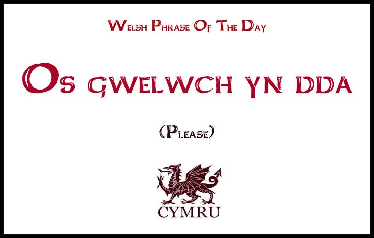 Welsh Phrase Of The Day: