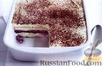 Фото к рецепту: Тирамису с сыром «Рикотта» и малиной