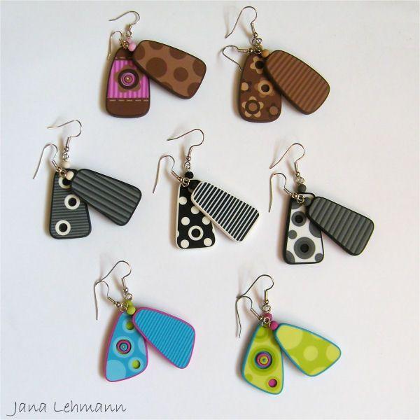 Love these really FUN earrings by Jana Lehmann