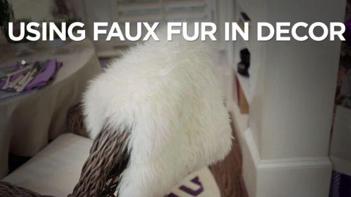 Ideas For Utilizing Fake Fur In Decor…