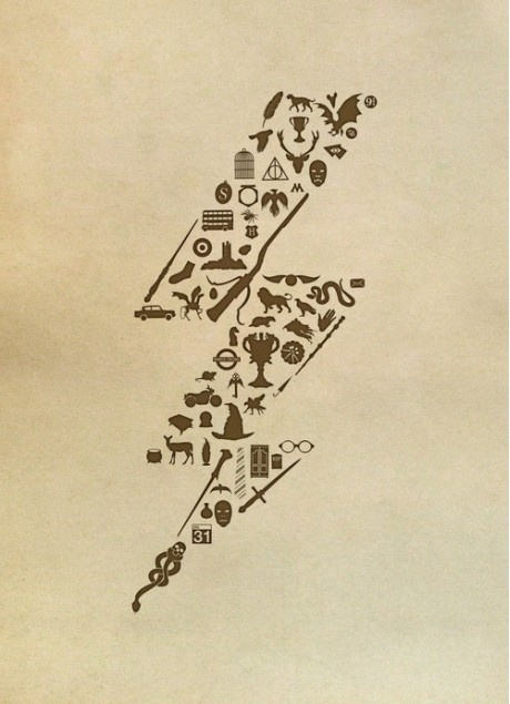 Harry Potter - in black this would make a really cool tattoo