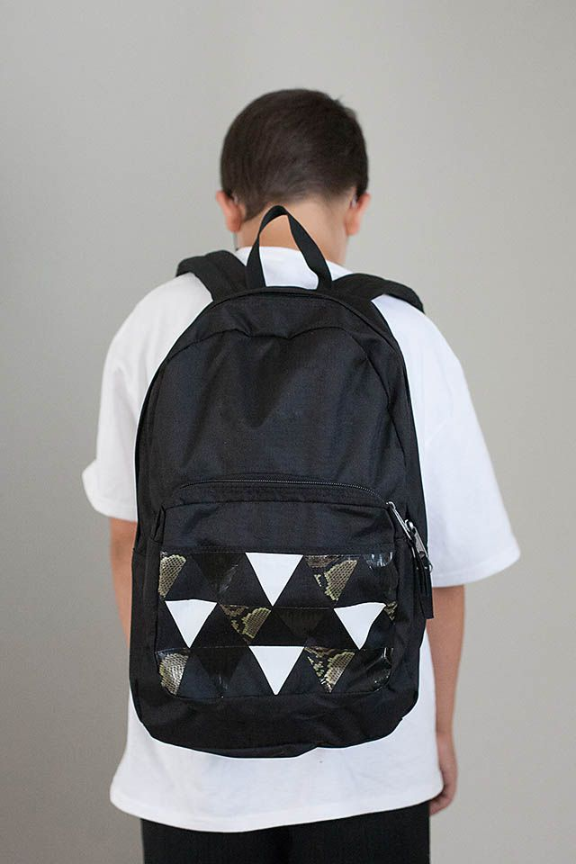 All for the Boys -  DIY Duct Tape Personalized Backpacks