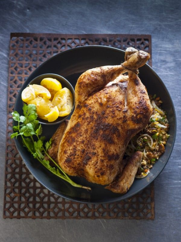 Chicken Roast with Couscous, Raisin and Pine Nut Stuffing Recipe | myfoodbook | Steggles Chicken Recipe