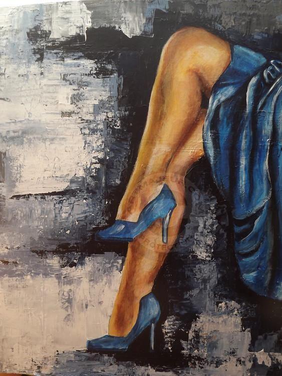 les jambes d 'Amina - Painting ©2015 par anita b -  Peinture