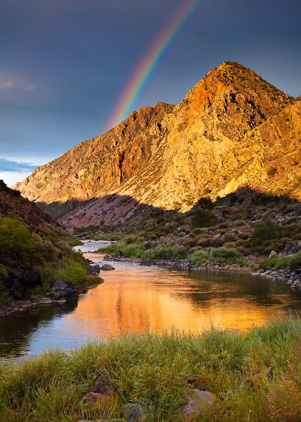 The Rio Grande river near Pilar, New Mexico; photo by Adam Schallau