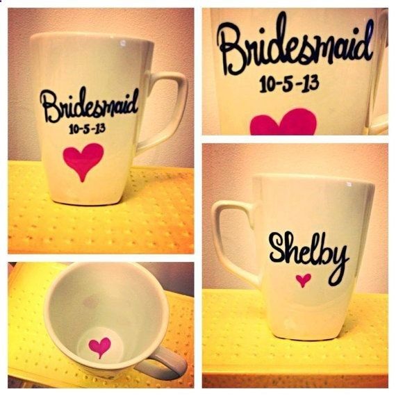 Bridesmaid Mug for their gift P.s thats my actual wedding date! | pleasureweddingz.compleasureweddingz.com