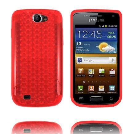 Kuutiot (Punainen) Samsung Galaxy W Silikonisuojus