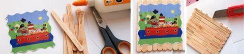Jégkrémpálcika alkotások gyerekekkel gyerekeknek