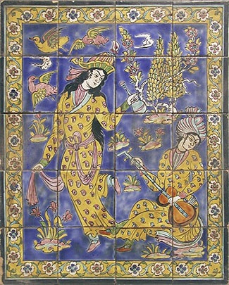 Persian tiles from the 1800s