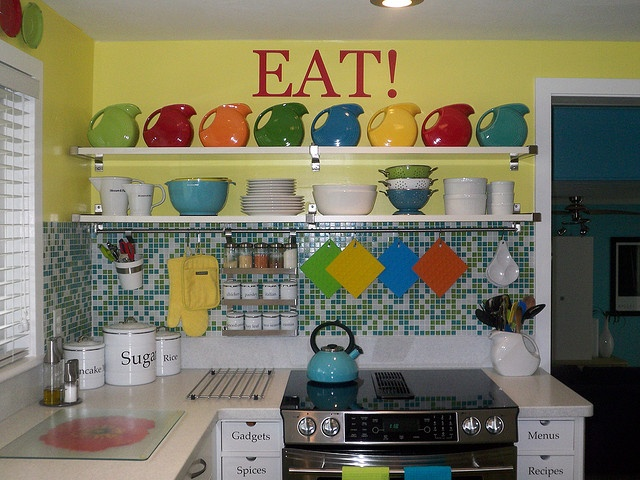 Kitchens Decorated With Fiestaware