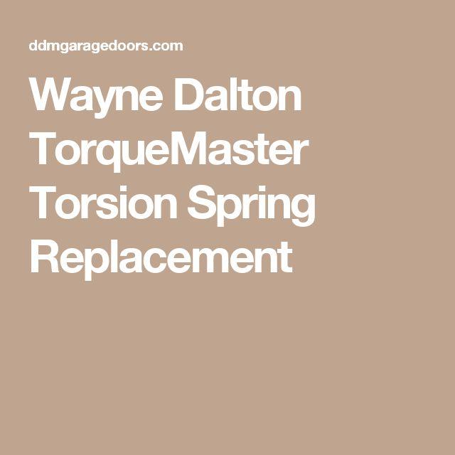 Wayne Dalton TorqueMaster Torsion Spring Replacement