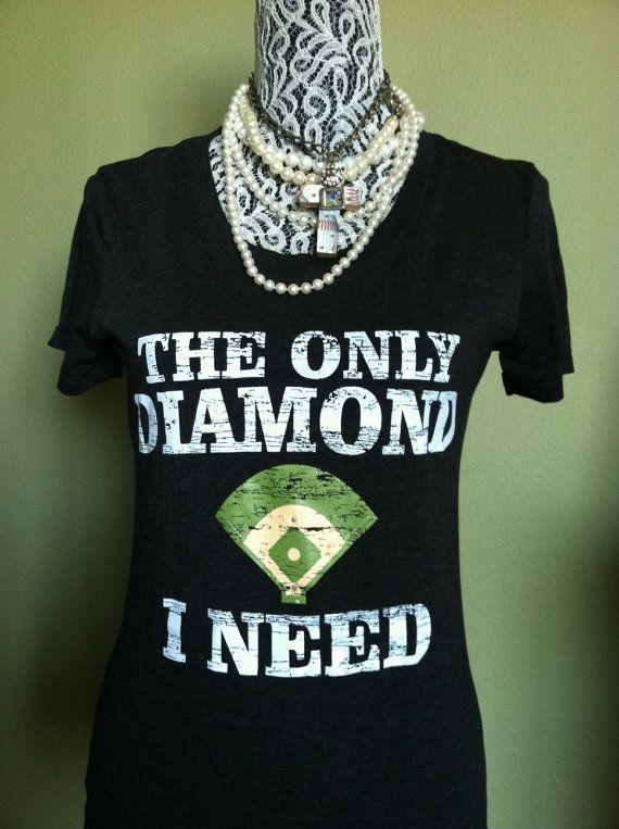 The Only Diamond I Need vintage screened baseball by BaseballAlley, $21.00