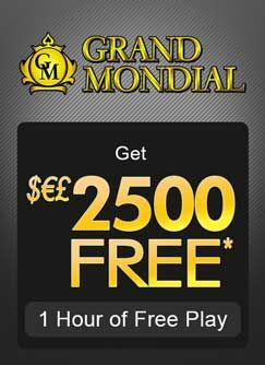 Hurry up to claim your free welcome bonus of a generous $2,500 free! There's no catch here – just one very attractive sign up offer and one whole hour in which to use it to play a range of online casino games. Choose from blackjack, poker, slots or roulette and use $2,500 of the casino's money to try and make some money of your own.