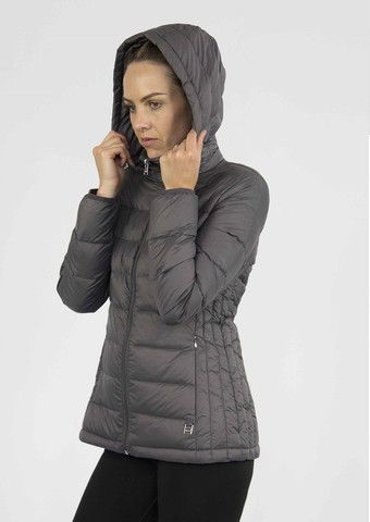 Moke Hooded Quilted Packable Jacket - Storm Grey